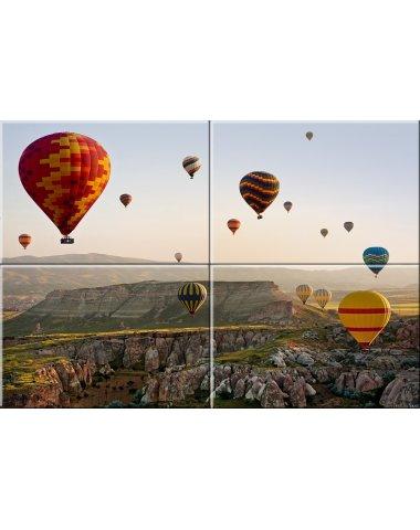Воздушные шары стеклянное панно (Примавера)