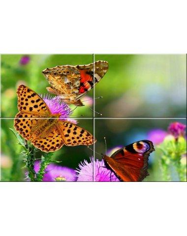 Бабочки стеклянное панно (Примавера)