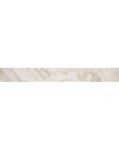 S.O. Pure White Listello Lap 7,3x59 / С.О. Пьюр Вайт Бордюр Лаппато 7,3х59