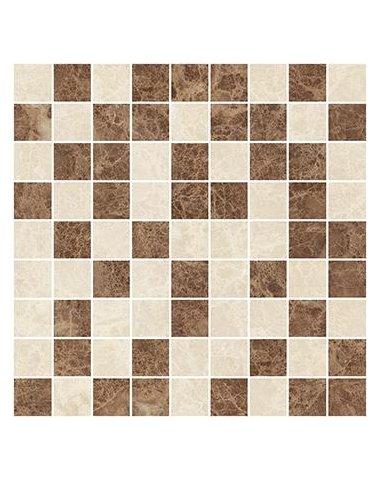 Libra Мозаика коричневый+бежевый 30х30