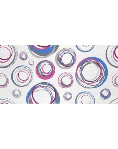 Enigma Декор синий (круги) 25х50