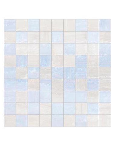 Diadema Мозаика 30х30 голубой+белый