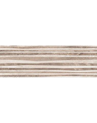Polaris Плитка настенная серый рельеф 17-10-06-493 20х60