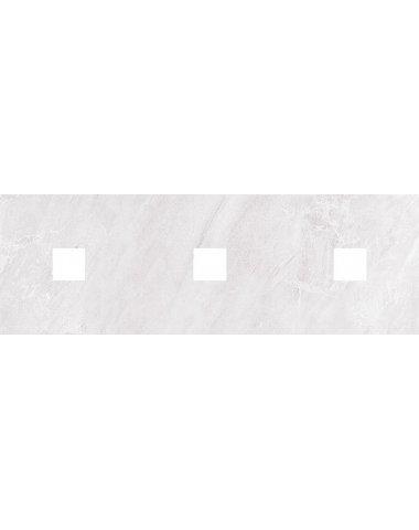 Мармара Декор (с 3-мя вырезами 5,6х5,6) серый 20х60