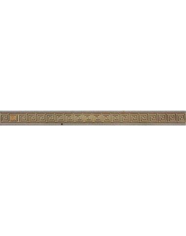 Пальмира Бордюр стеклянный бежевый 5х60