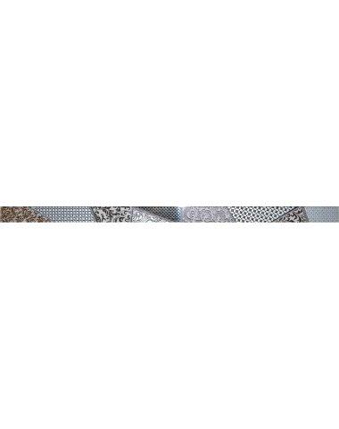 Берген Бордюр стеклянный серый 3,5х60