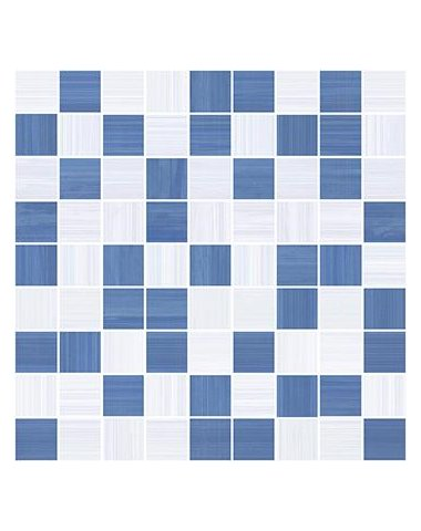 Stripes Мозаика синий+серый 30х30
