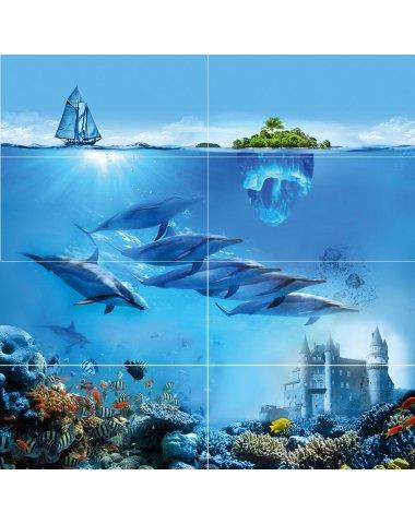 Ocean Deep Панно 80х80 (из 8 плиток)