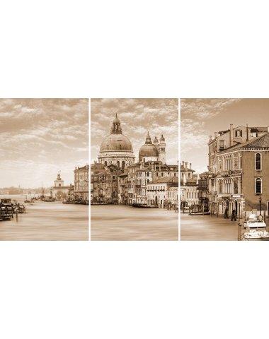 Venice Панно стекло из 3-х плиток 75х40