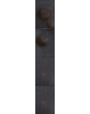 SILK DANDELION Панно (4шт.х27,5х40) чёрное ВК 27,5х160