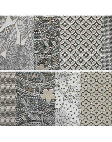 Carcassonne Conjunto Gris Панно комплект из 2 плиток 250х500 мм/500х500 мм