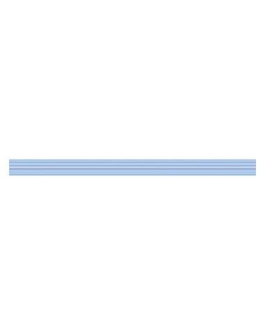 Line Бордюр стеклянный Blue Strokes 30х2