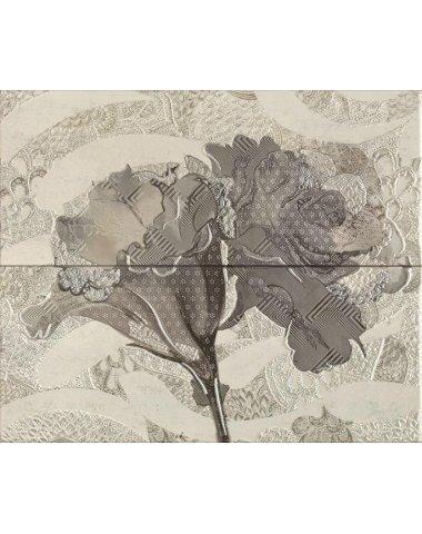 Frades Conjunto Floral Gris Панно комплект из 2 плиток 250х600 мм/500х600 мм