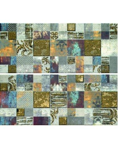 Frades Mosaico Gris Панно комплект из 2 плиток 250х600 мм/500х600 мм