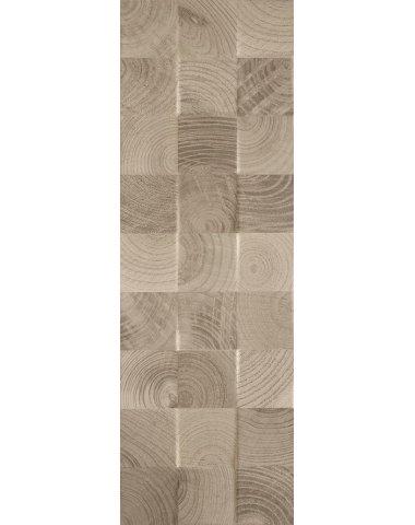 Daikiri Brown Wood Kostki Struktura Плитка настенная 25х75