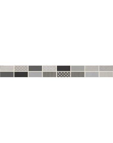 Fiori Grigio Бордюр металлизированный 6,5х60