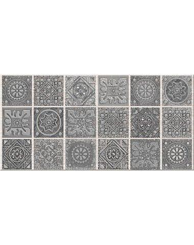 """Grazia Декор Grey """"Nefertiti"""" 20,1х40,5"""