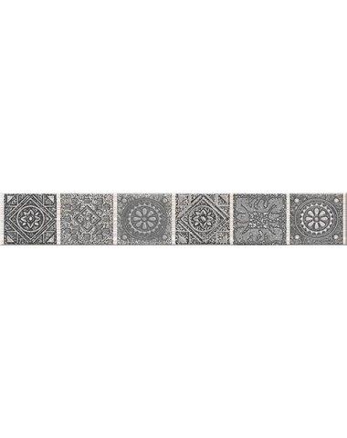 "Grazia Бордюр Grey ""Nefertiti"" 6,2х40,5"