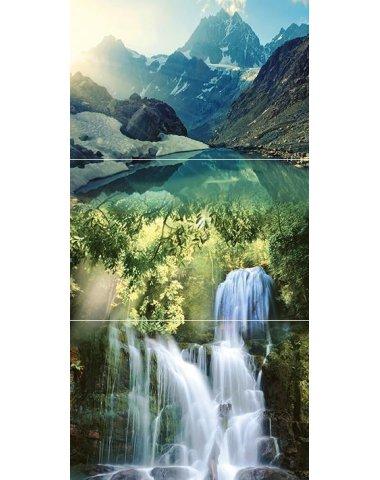 Waterfall mountains Панно из 3-х плиток 30х60
