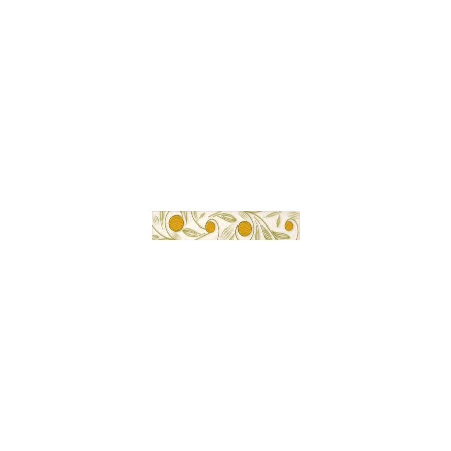 Zonkil Bianco B Бордюр 4,8x25