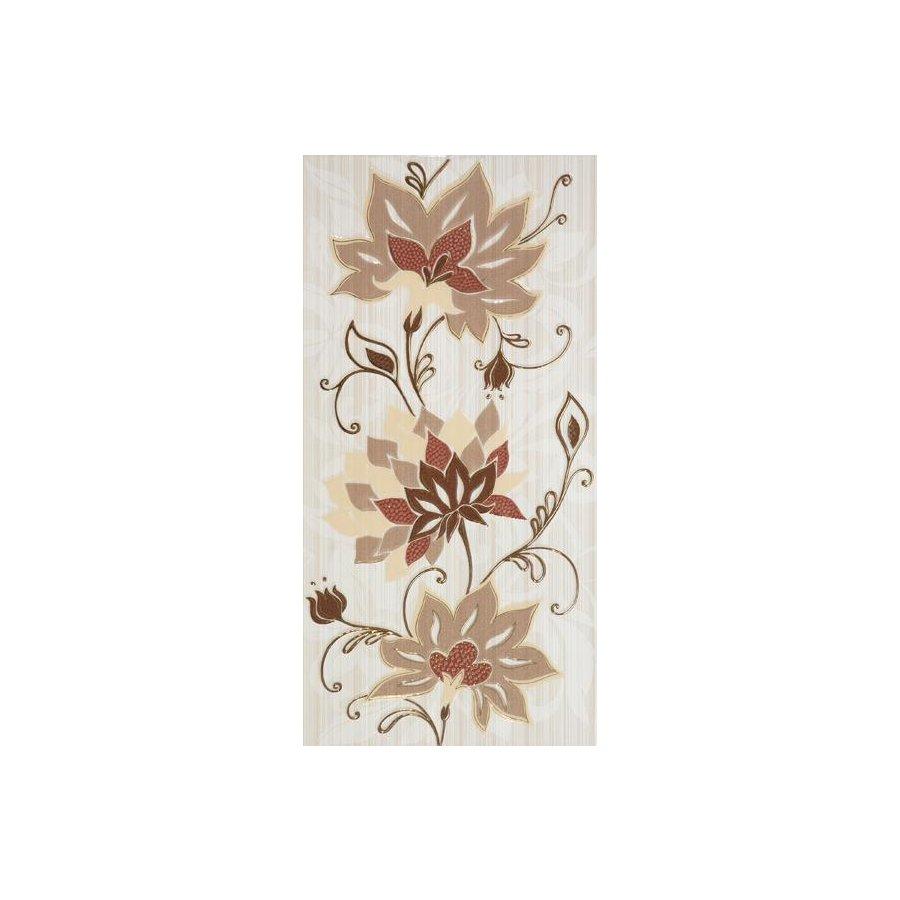 Жасмин на коричневом коричневый Декор 24,9х50