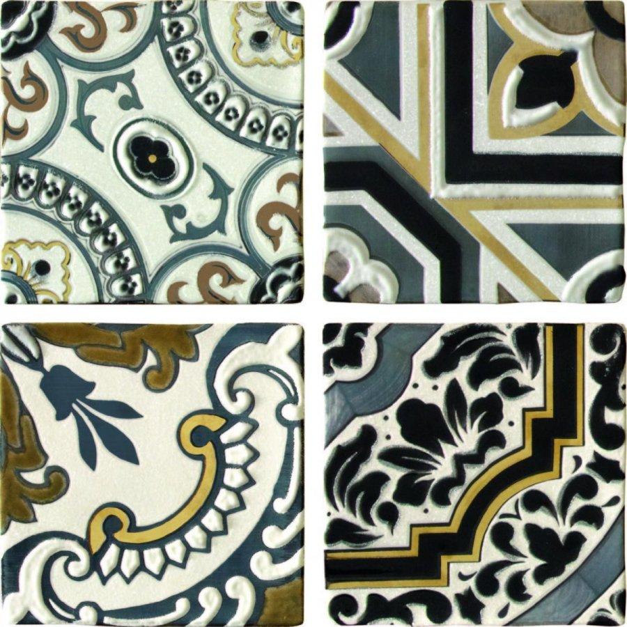 Arezzo Oro Conjunto Комплект декоров из 4 плиток 150х150 мм/150х600 мм