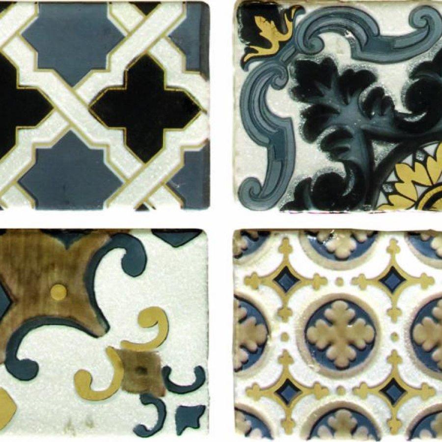 Arezzo Oro Conjunto Комплект декоров из 4 плиток 75х150 мм/75х600 мм - 2 СОРТ