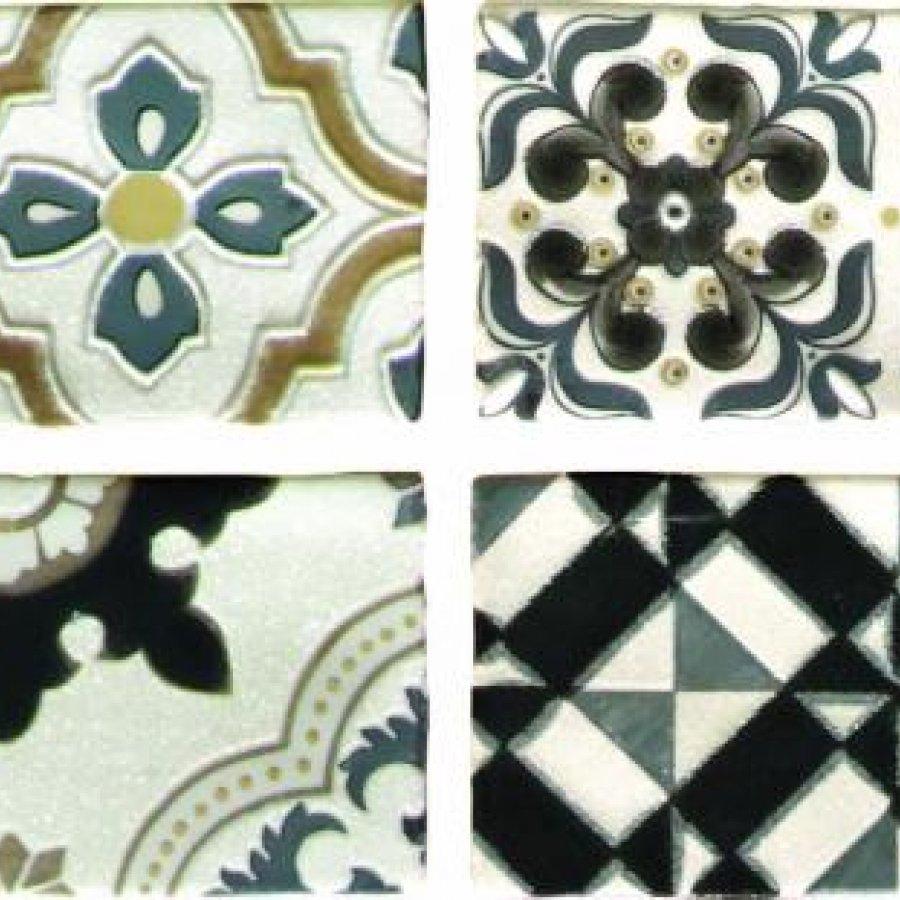 Arezzo Oro Conjunto Комплект декоров из 4 плиток 75х300 мм/150х600 мм