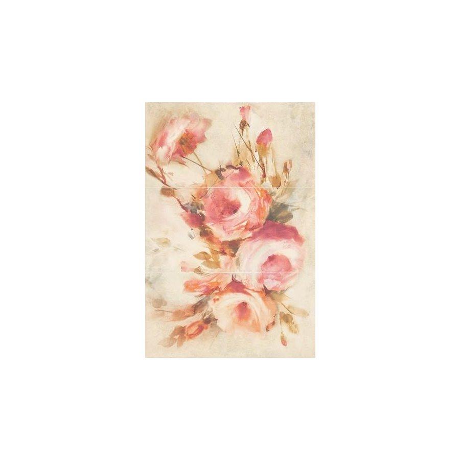 Coraline Beige Panel Rose Панно комплект из 3 плиток 300х600 мм/900х600 мм
